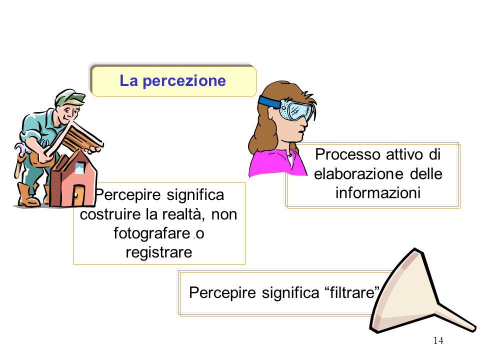 Processo attivo di elaborazione delle informazioni