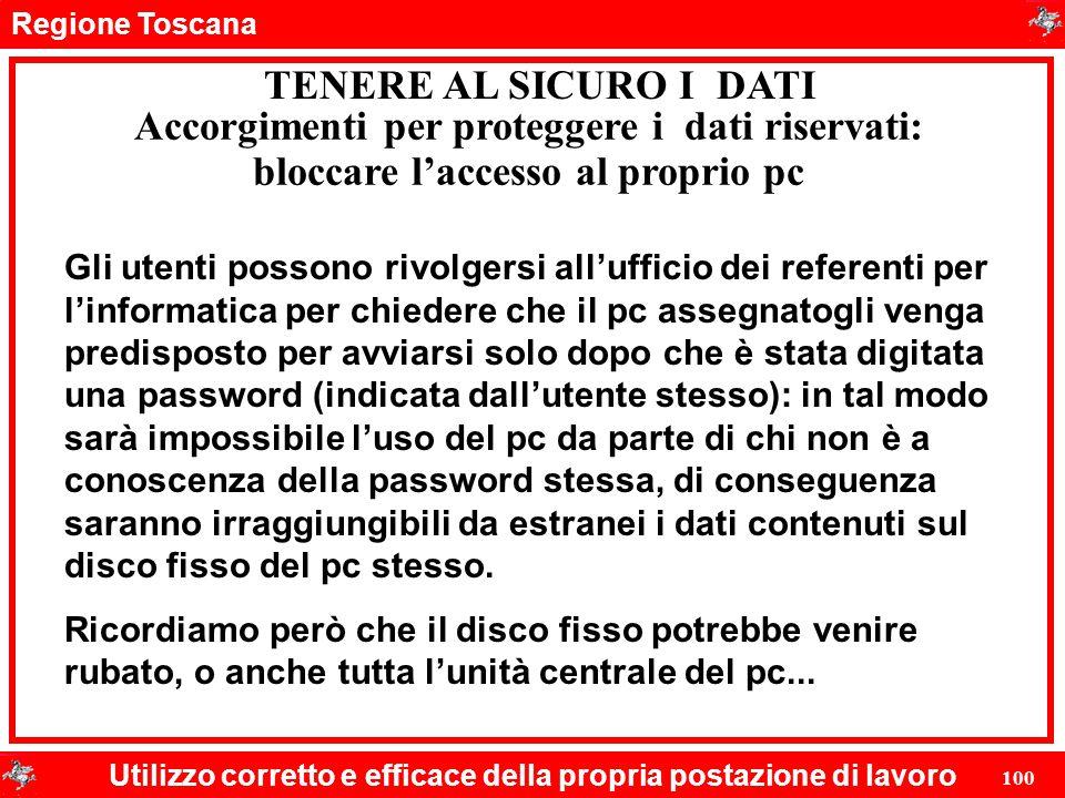 Accorgimenti per proteggere i dati riservati: