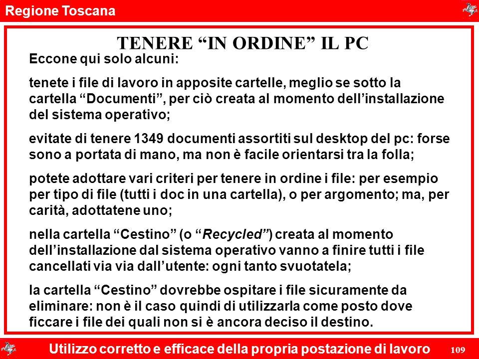 TENERE IN ORDINE IL PC
