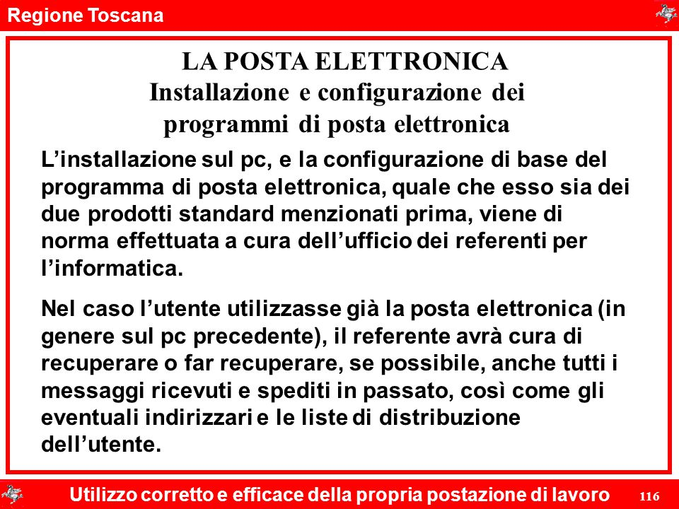 Installazione e configurazione dei programmi di posta elettronica