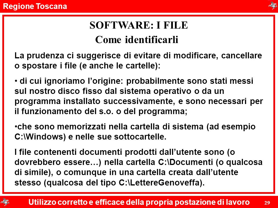 SOFTWARE: I FILE Come identificarli