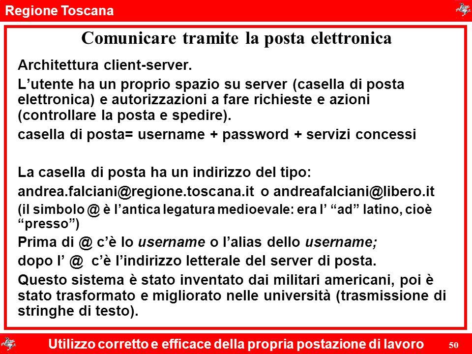 Comunicare tramite la posta elettronica