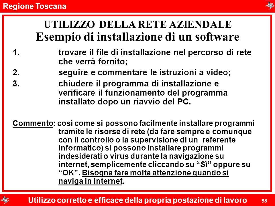 Esempio di installazione di un software