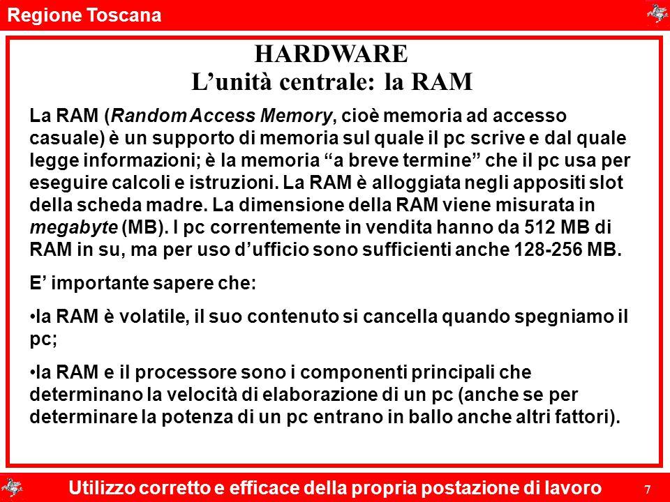 L'unità centrale: la RAM