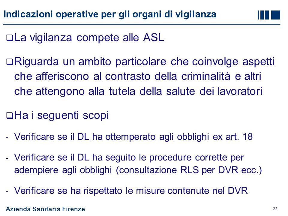Indicazioni operative per gli organi di vigilanza