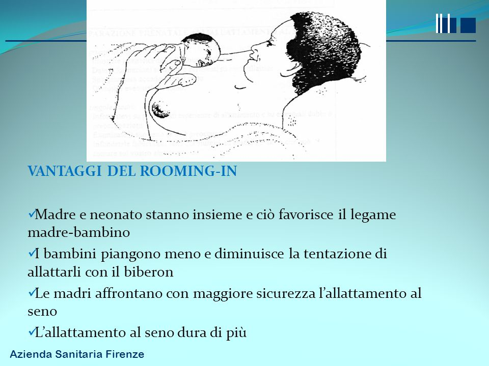 VANTAGGI DEL ROOMING-IN