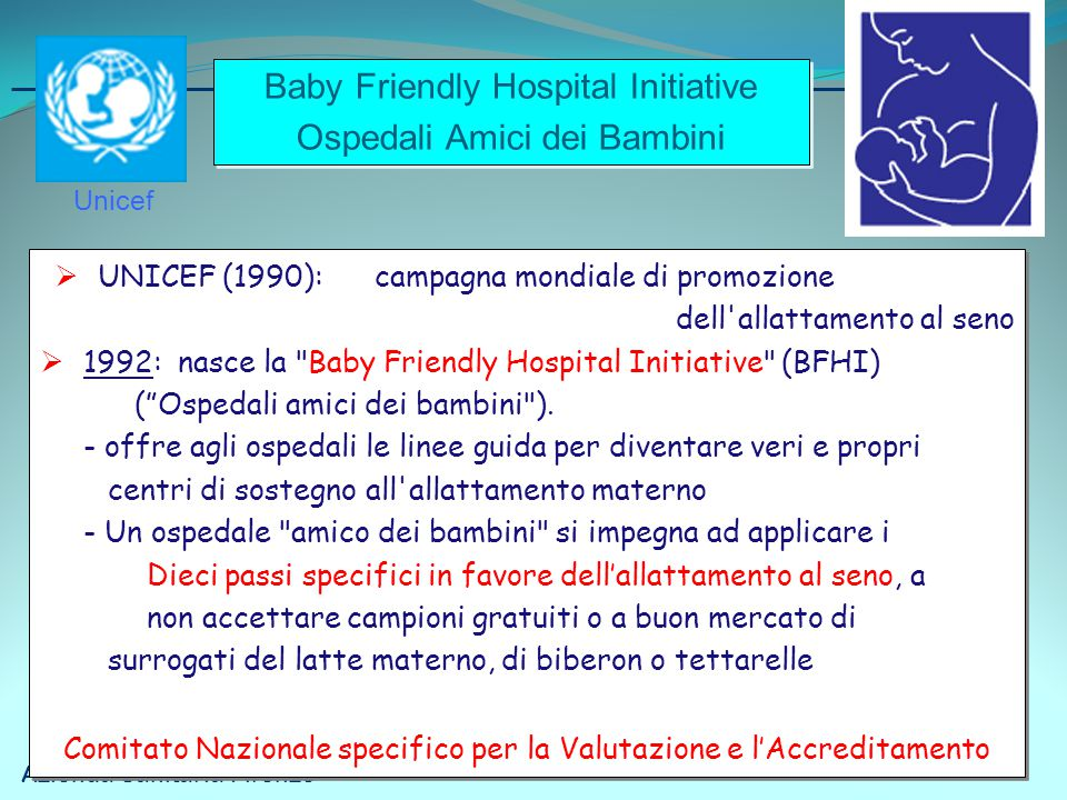Baby Friendly Hospital Initiative Ospedali Amici dei Bambini