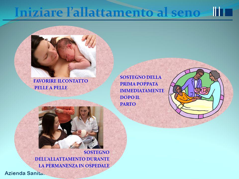 Iniziare l'allattamento al seno