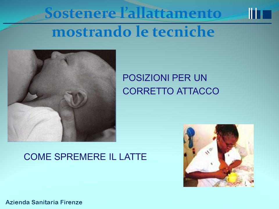 Sostenere l'allattamento mostrando le tecniche