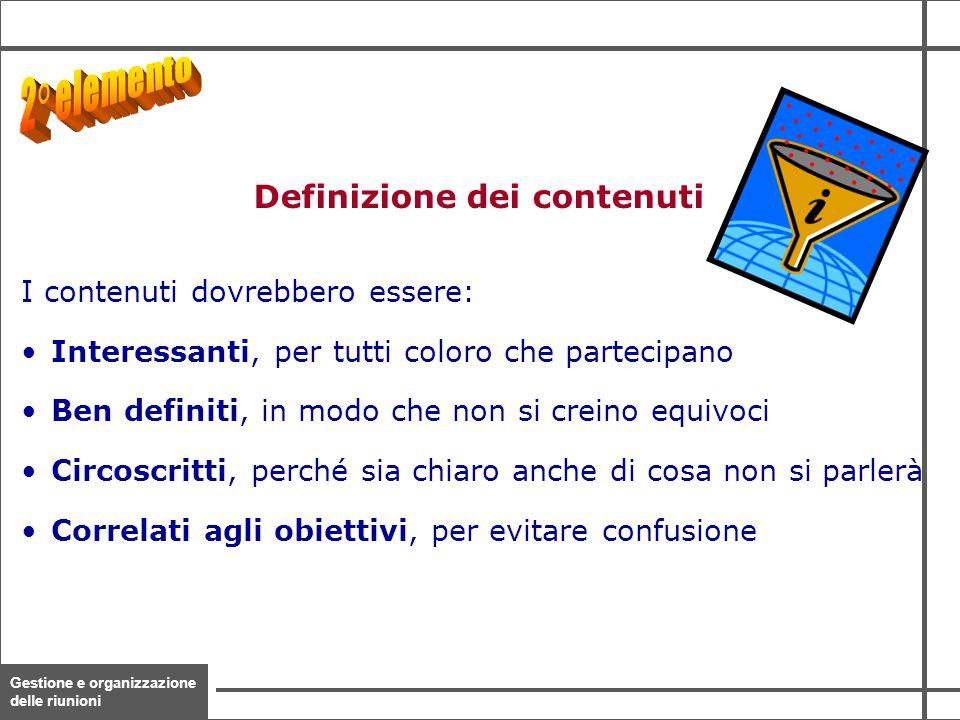 Definizione dei contenuti