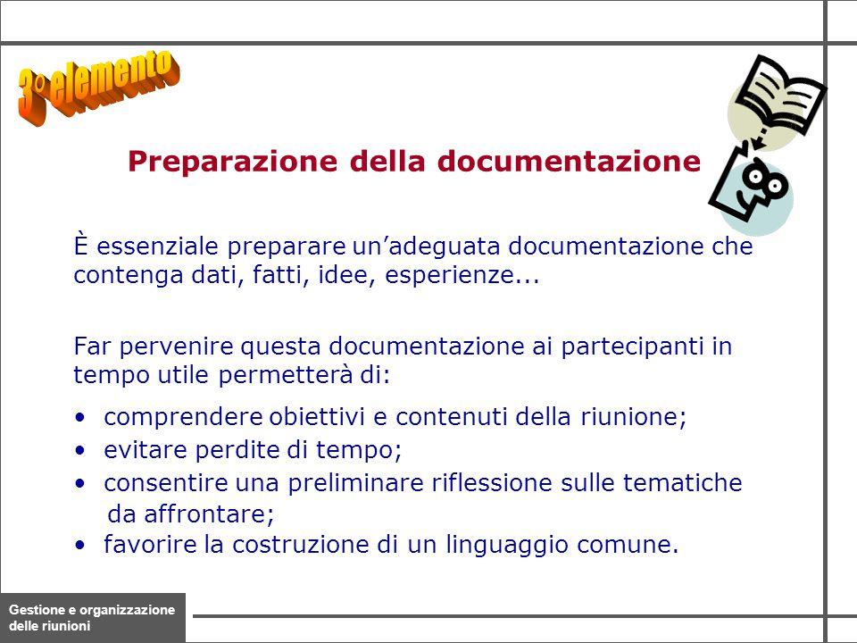 Preparazione della documentazione