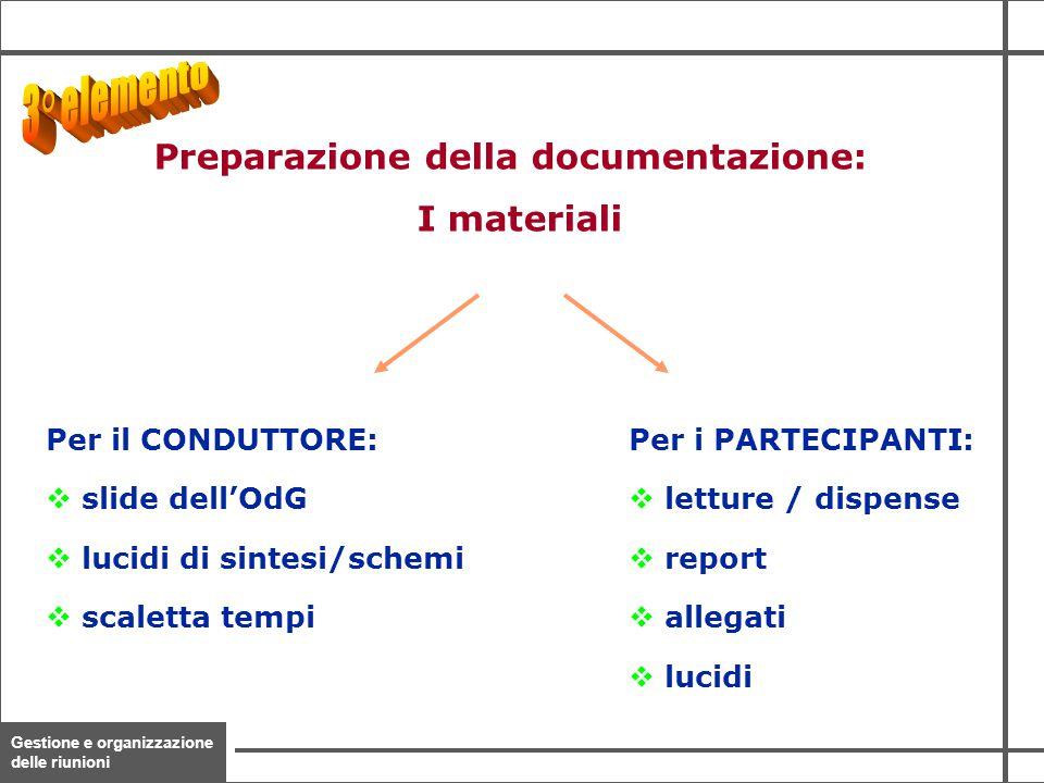 Preparazione della documentazione: