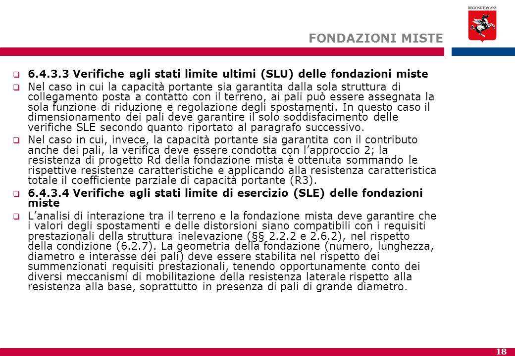 FONDAZIONI MISTE 6.4.3.3 Verifiche agli stati limite ultimi (SLU) delle fondazioni miste.
