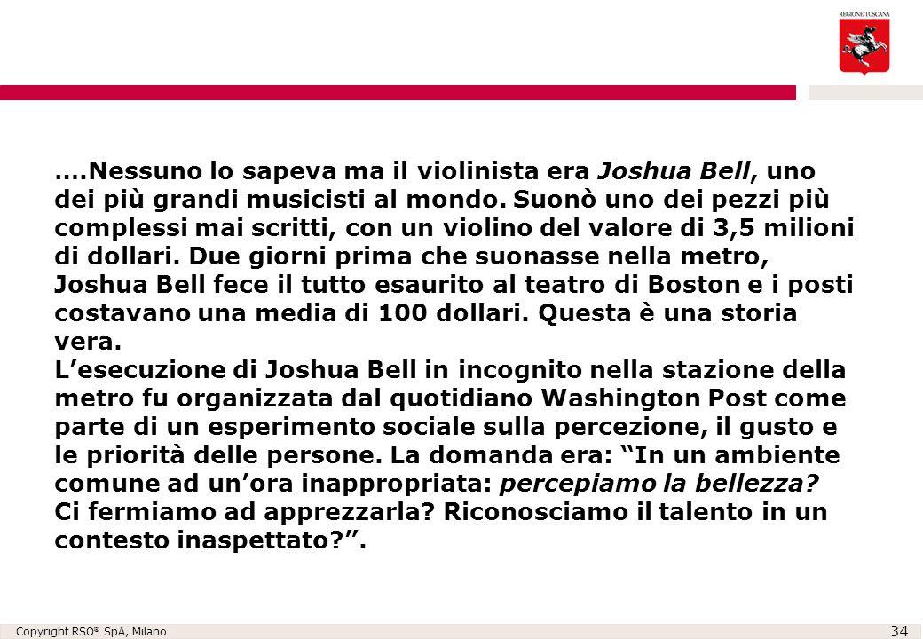 ….Nessuno lo sapeva ma il violinista era Joshua Bell, uno dei più grandi musicisti al mondo.