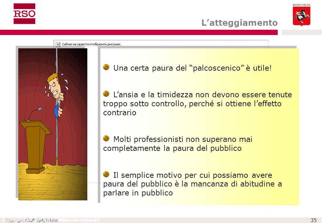 L'atteggiamento Una certa paura del palcoscenico è utile!