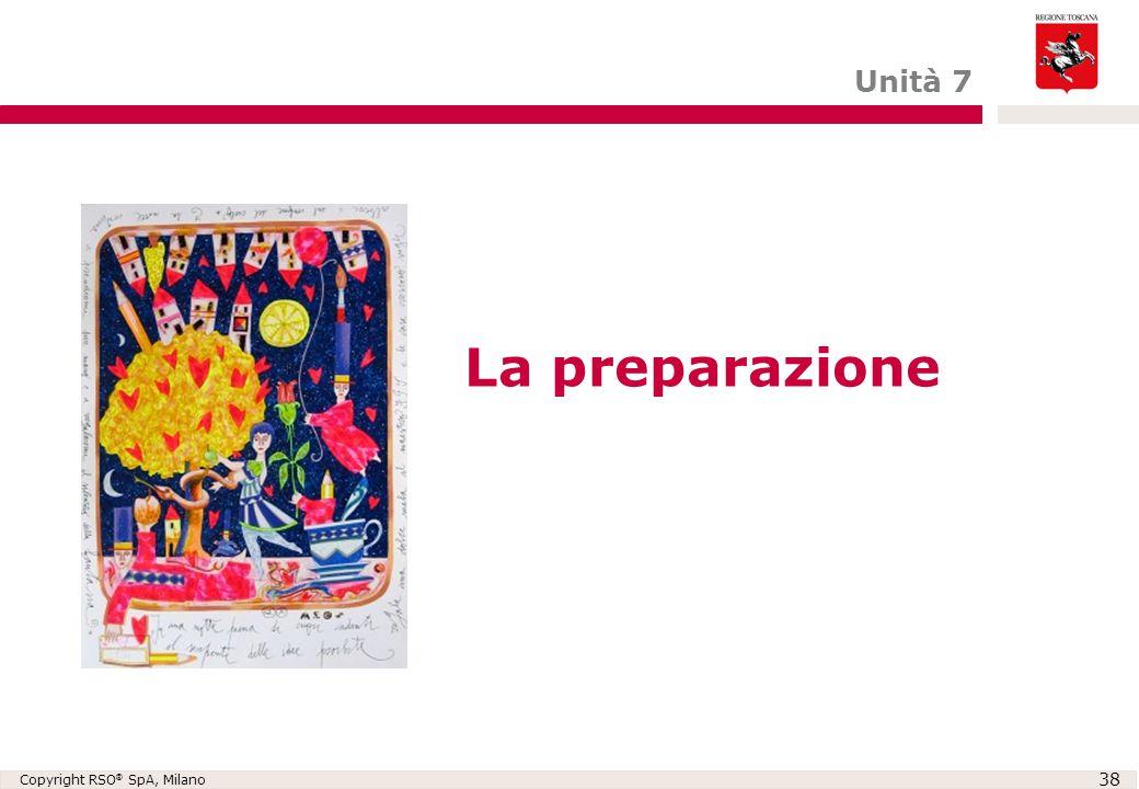 Unità 7 La preparazione