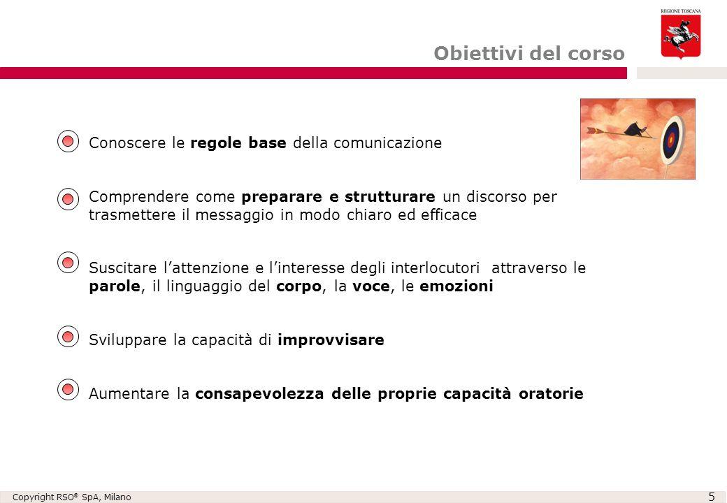 Obiettivi del corso Conoscere le regole base della comunicazione