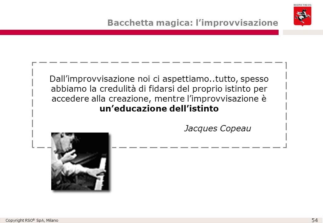 Bacchetta magica: l'improvvisazione