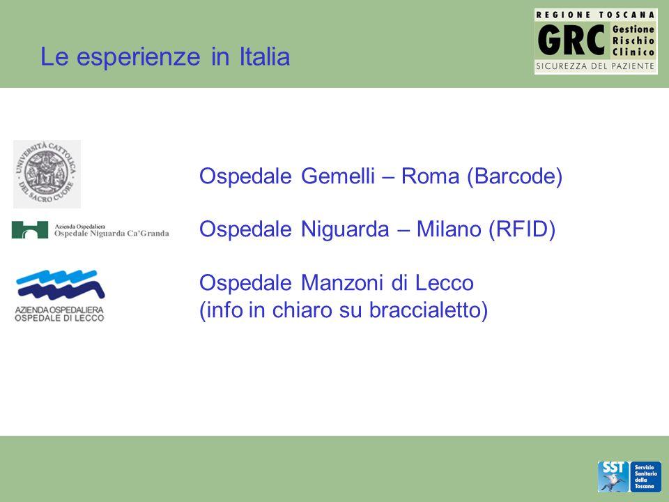 Le esperienze in Italia