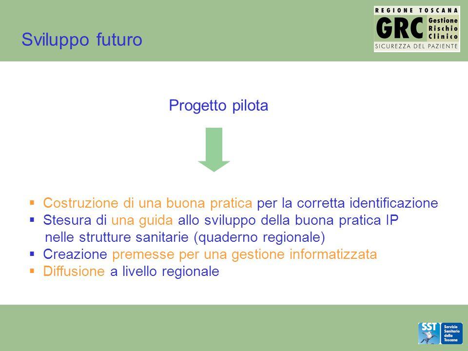 Sviluppo futuro Progetto pilota