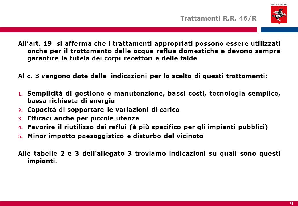 Trattamenti R.R. 46/R