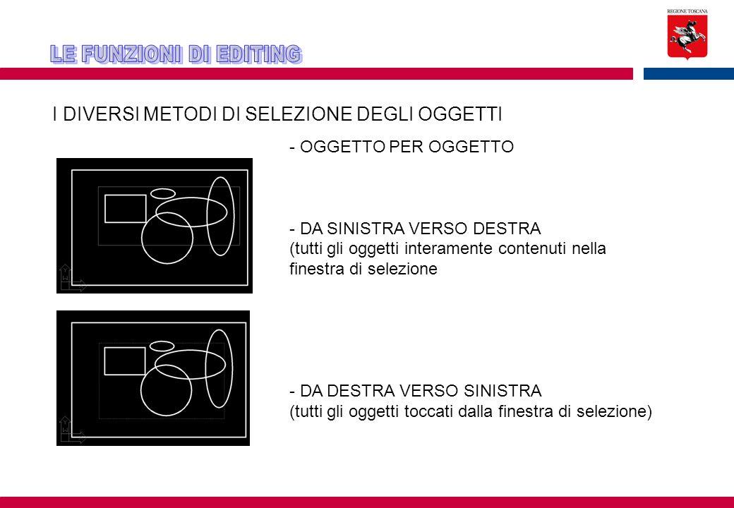 I DIVERSI METODI DI SELEZIONE DEGLI OGGETTI