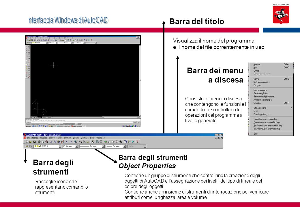 Interfaccia Windows di AutoCAD
