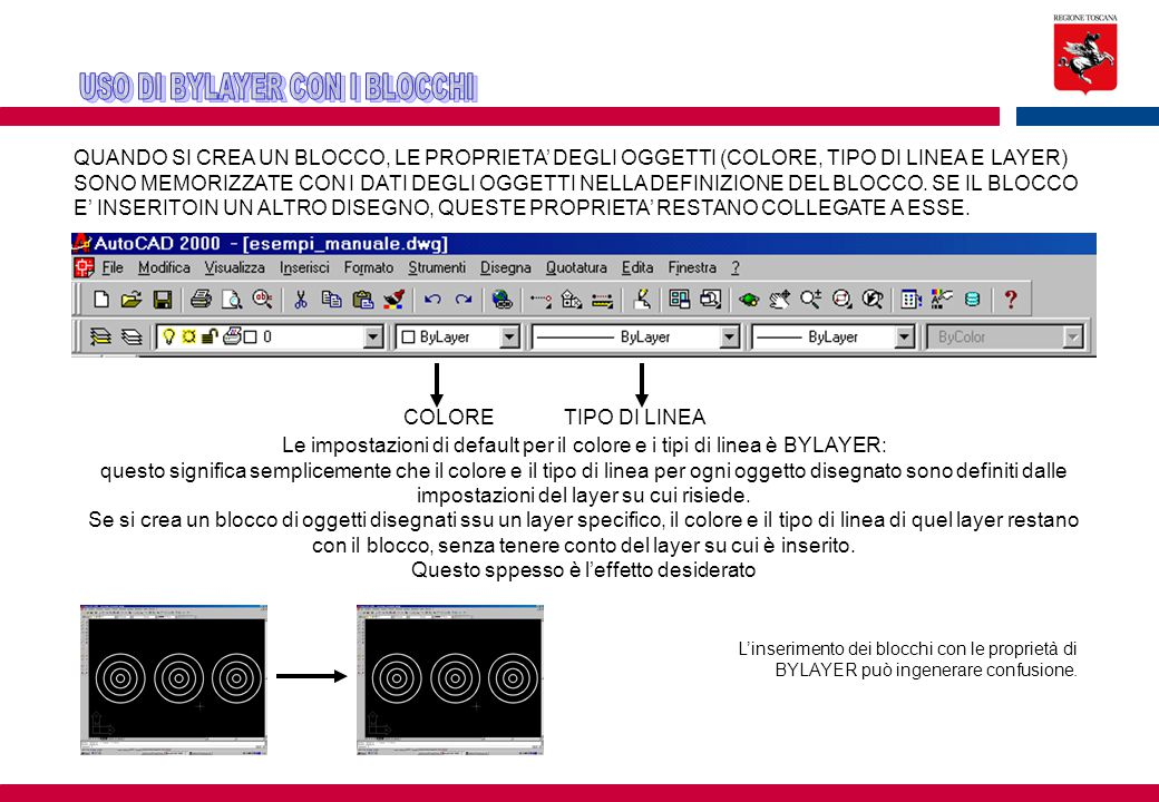 USO DI BYLAYER CON I BLOCCHI
