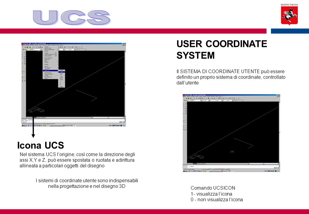 UCS USER COORDINATE SYSTEM Icona UCS