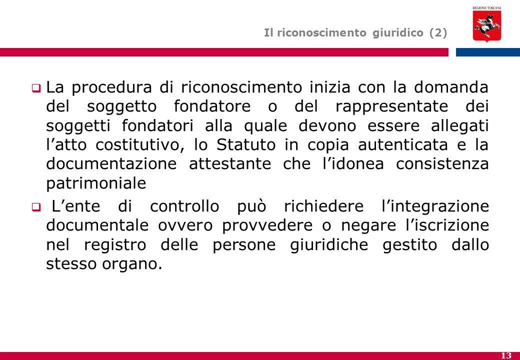 Il riconoscimento giuridico (2)