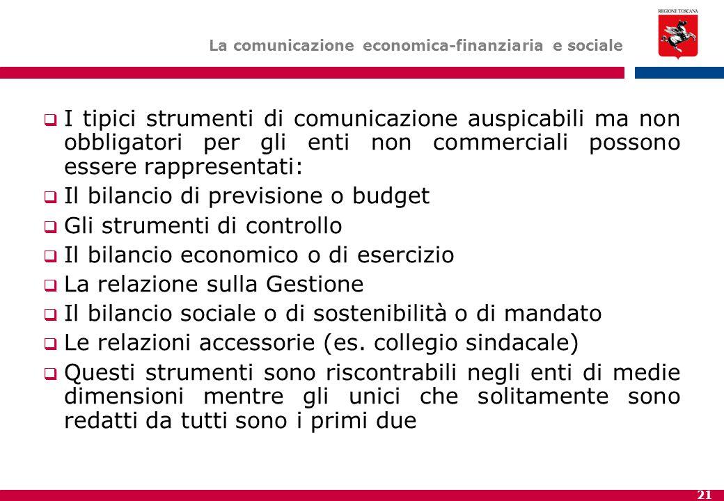 La comunicazione economica-finanziaria e sociale