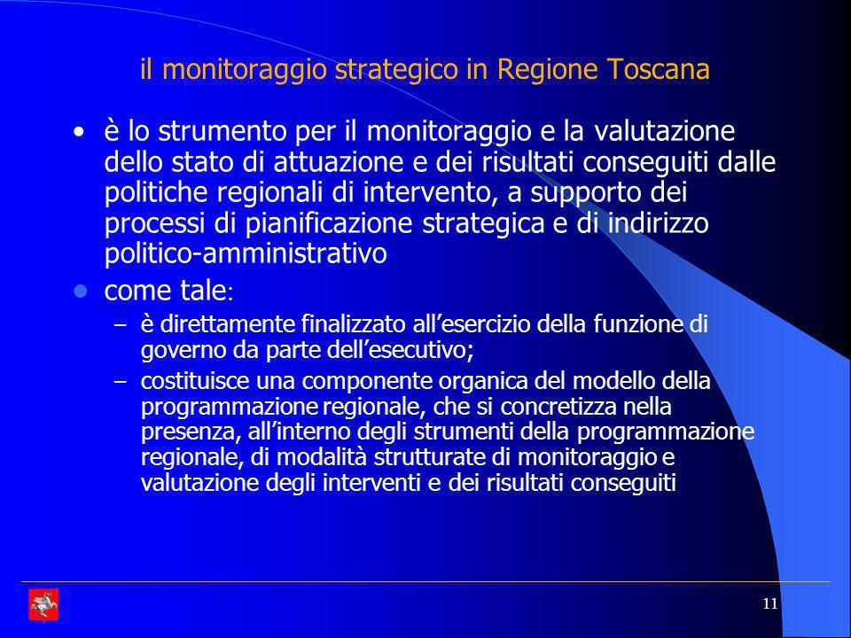 il monitoraggio strategico in Regione Toscana