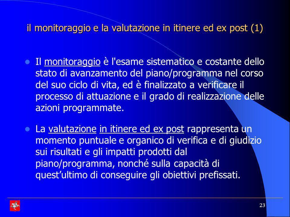 il monitoraggio e la valutazione in itinere ed ex post (1)