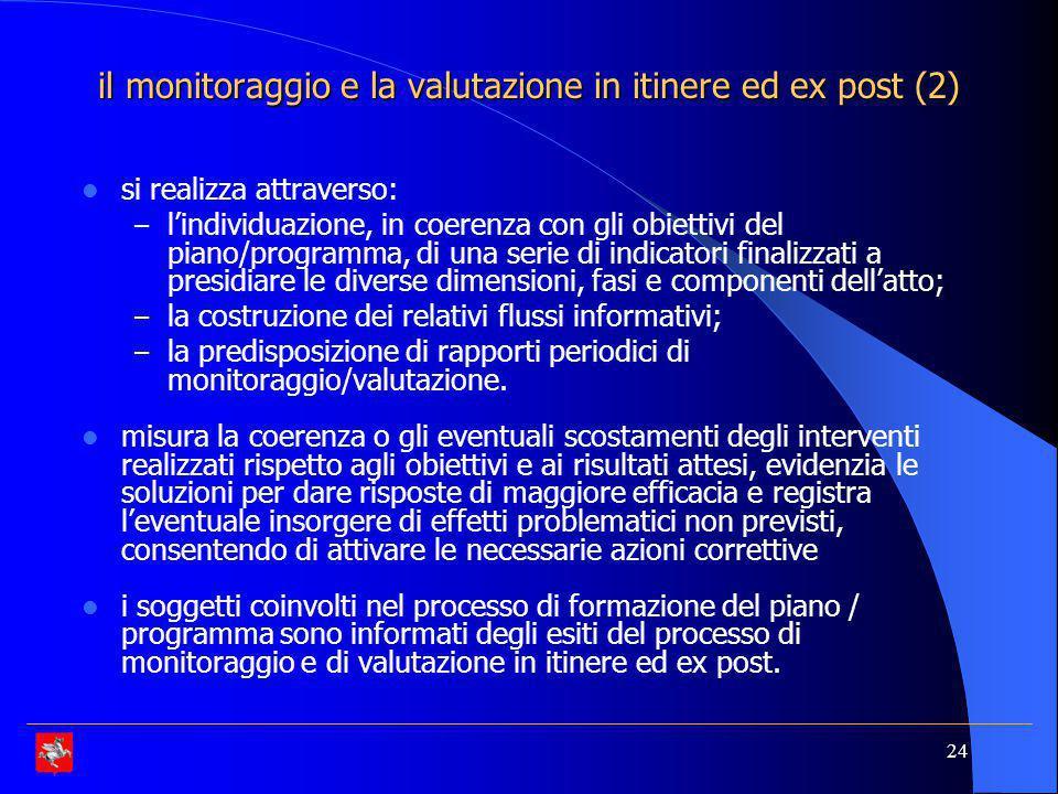 il monitoraggio e la valutazione in itinere ed ex post (2)