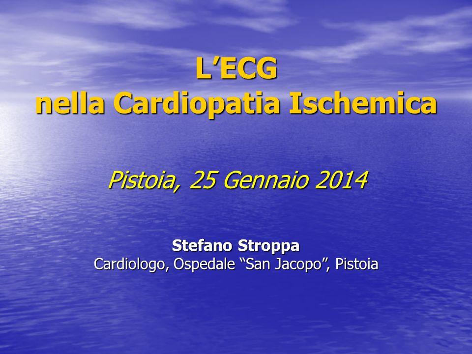 L'ECG nella Cardiopatia Ischemica