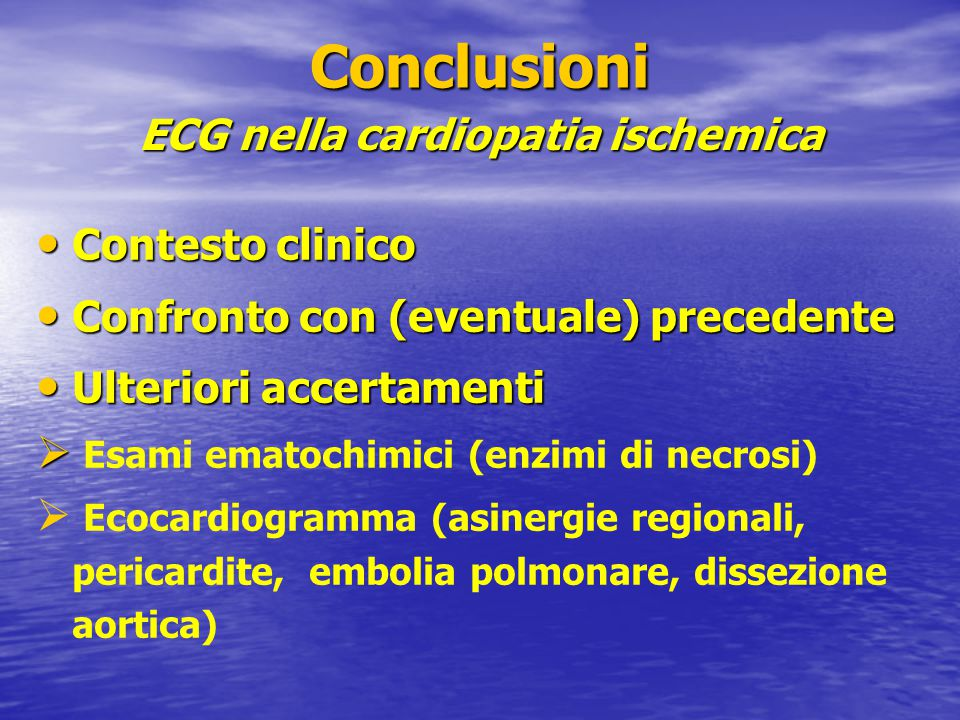 ECG nella cardiopatia ischemica