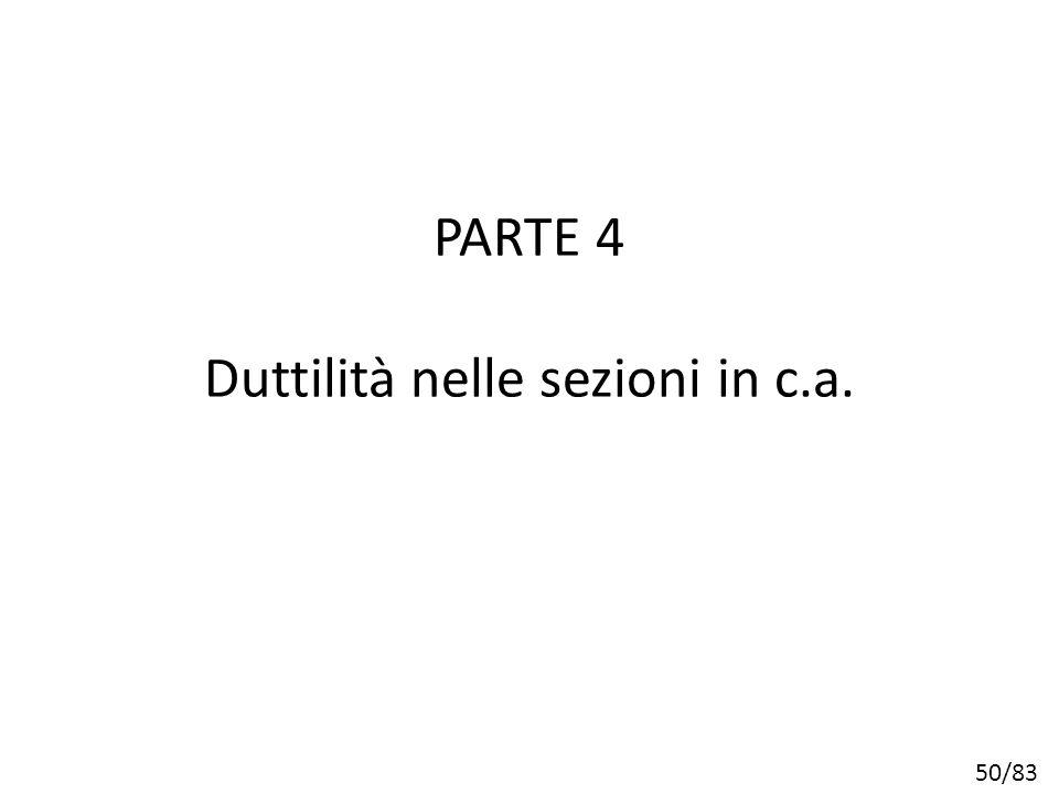 PARTE 4 Duttilità nelle sezioni in c.a.