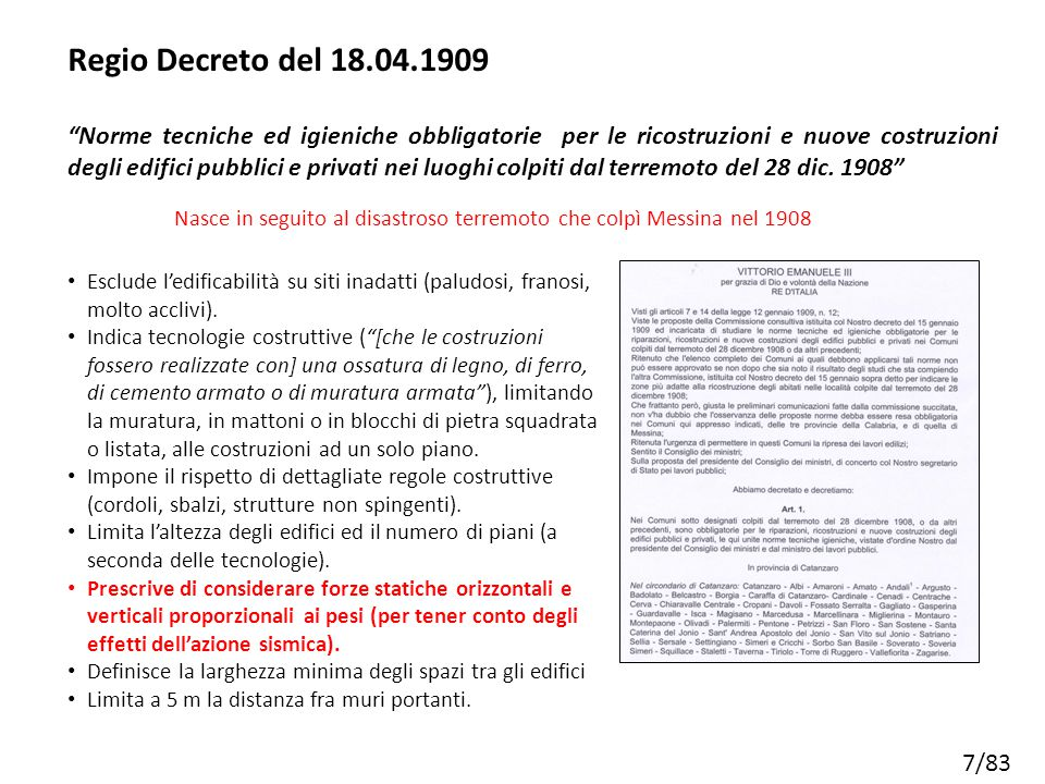 Regio Decreto del 18.04.1909