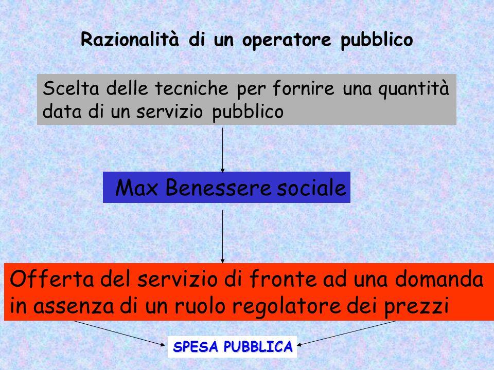 Razionalità di un operatore pubblico