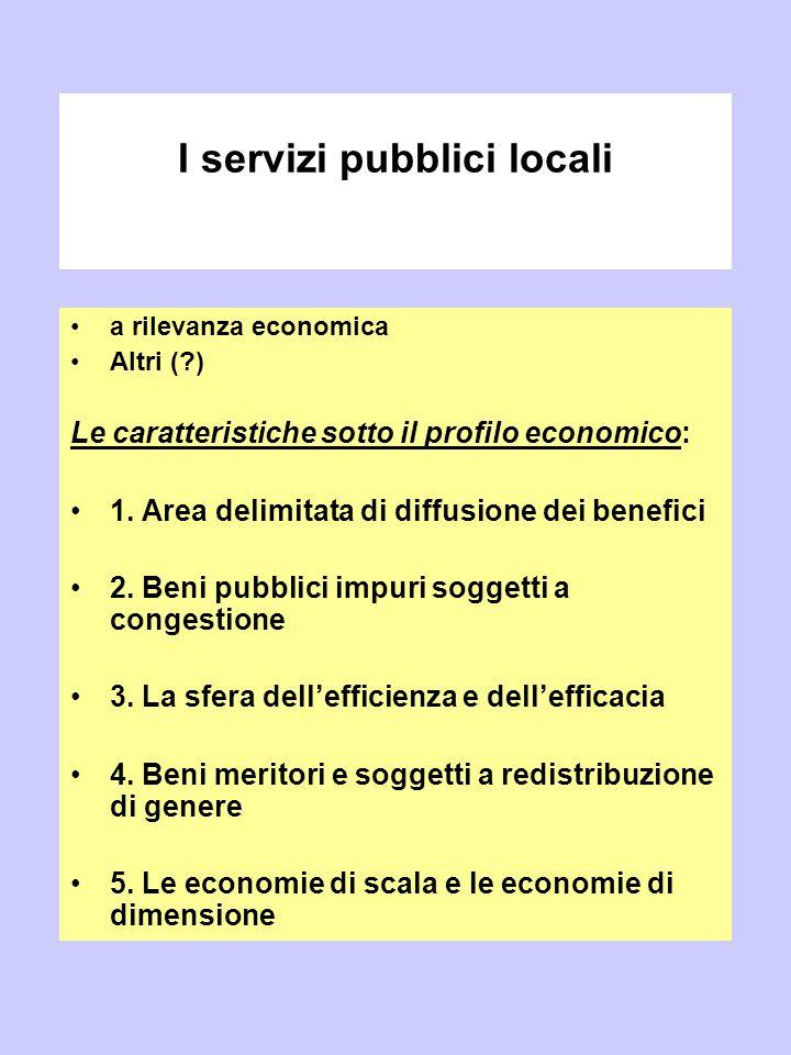I servizi pubblici locali