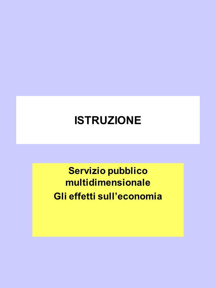 Servizio pubblico multidimensionale Gli effetti sull'economia