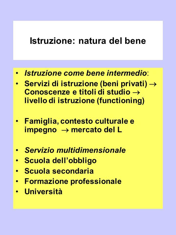 Istruzione: natura del bene
