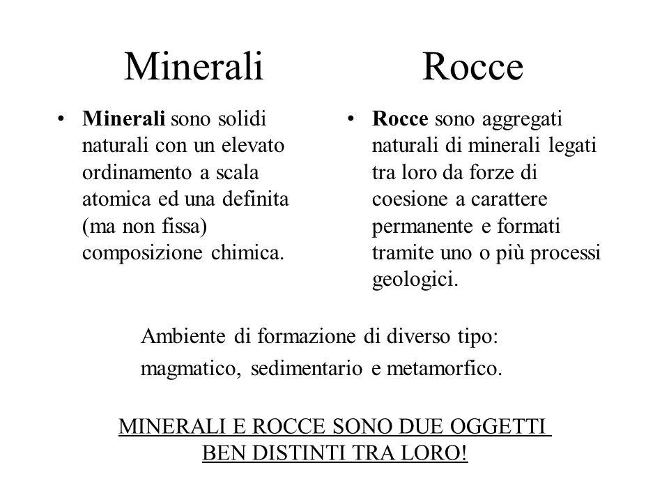 Cosa sono i minerali