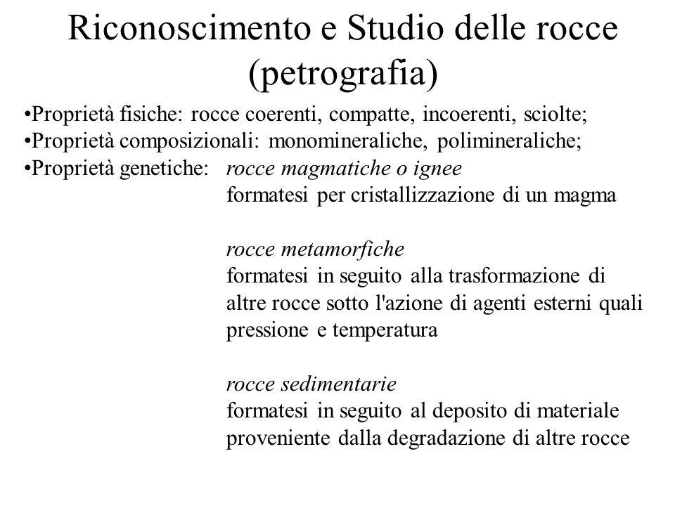 Riconoscimento e Studio delle rocce (petrografia)