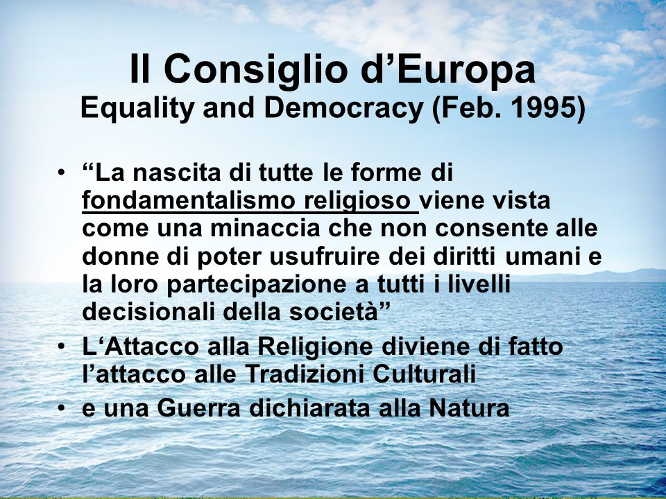 Il Consiglio d'Europa Equality and Democracy (Feb. 1995)