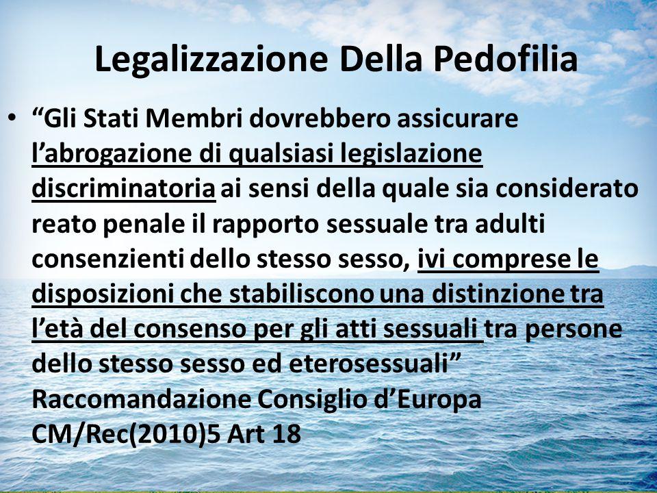 Legalizzazione Della Pedofilia
