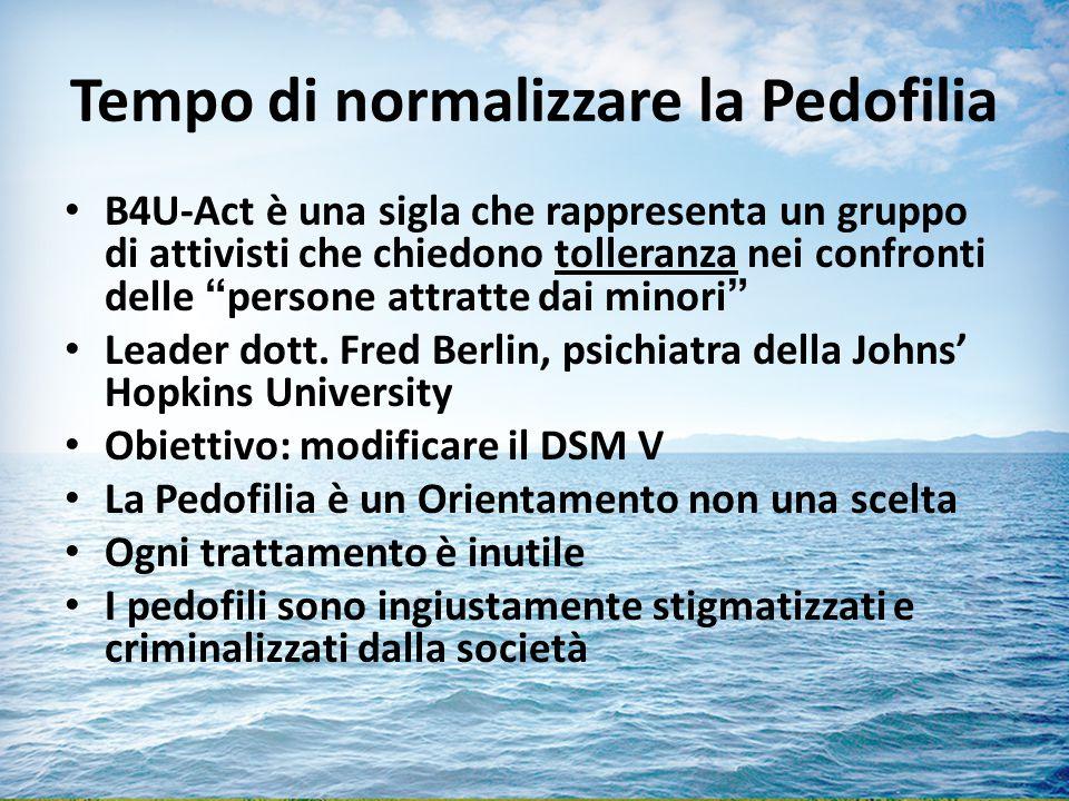 Tempo di normalizzare la Pedofilia