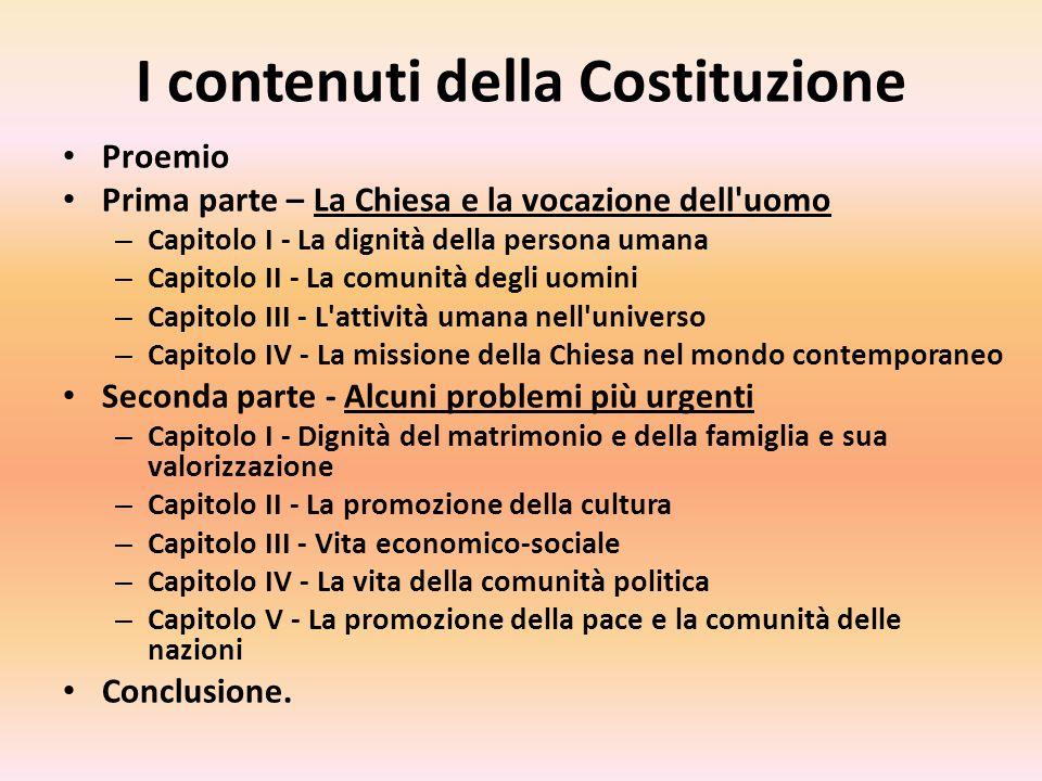 I contenuti della Costituzione