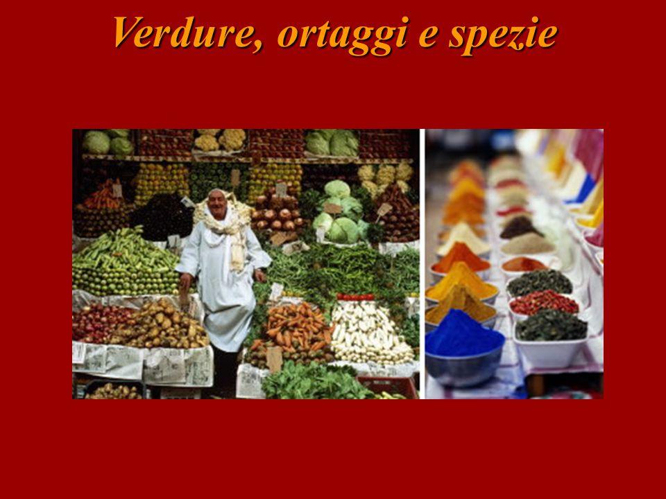 Verdure, ortaggi e spezie
