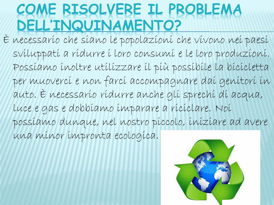 COME RISOLVERE IL PROBLEMA DELL'inquinamento